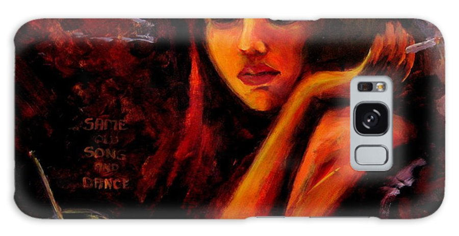 Woman Galaxy S8 Case featuring the painting Same Old Song And Dance by Jason Reinhardt