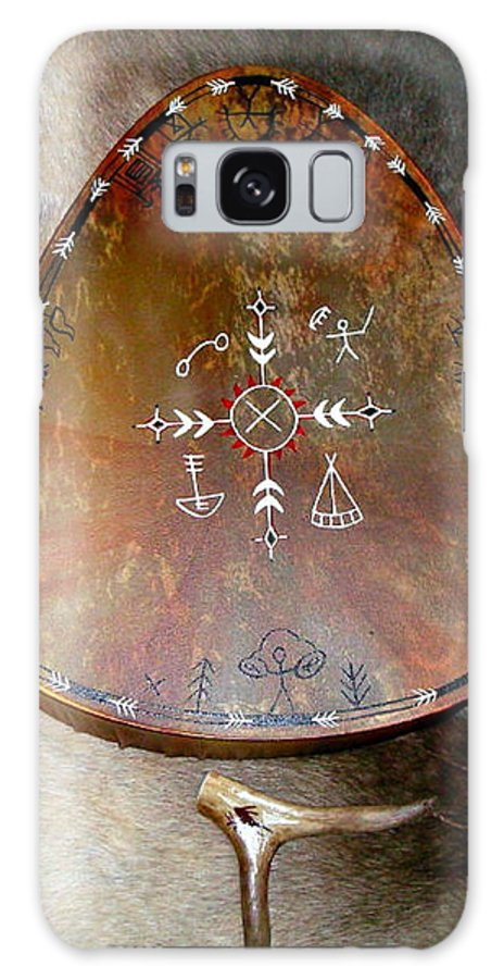 Saami Galaxy S8 Case featuring the photograph Sami Shaman Drum by Merja Waters