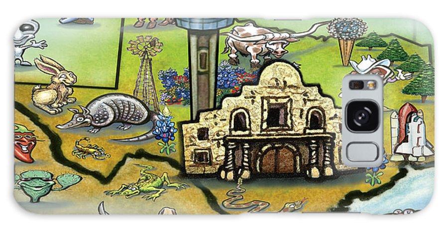 San Antonio Galaxy S8 Case featuring the digital art San Antonio Texas by Kevin Middleton