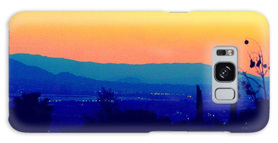 Sunset Galaxy S8 Case featuring the photograph San Bernardino California Sunset Silhouette by Michael Hoard
