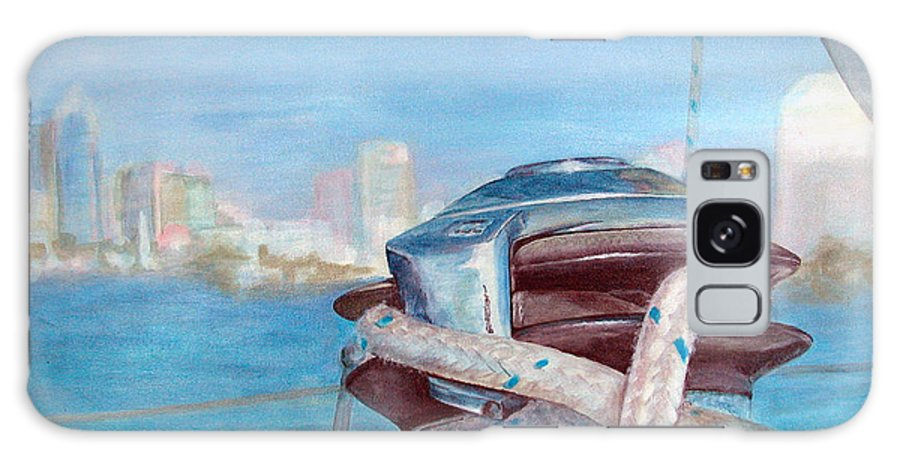 Landscape Galaxy Case featuring the painting San Diego by Muriel Dolemieux
