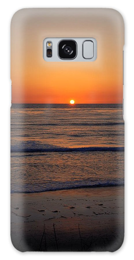 Sunset Galaxy S8 Case featuring the photograph San Eljio Sunset Ca by Susanne Van Hulst
