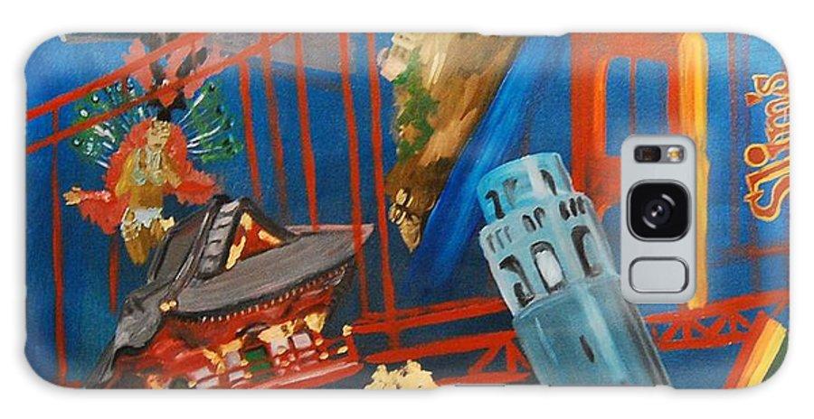 Golden Gate Bridge Galaxy S8 Case featuring the painting San Fran by Lauren Luna