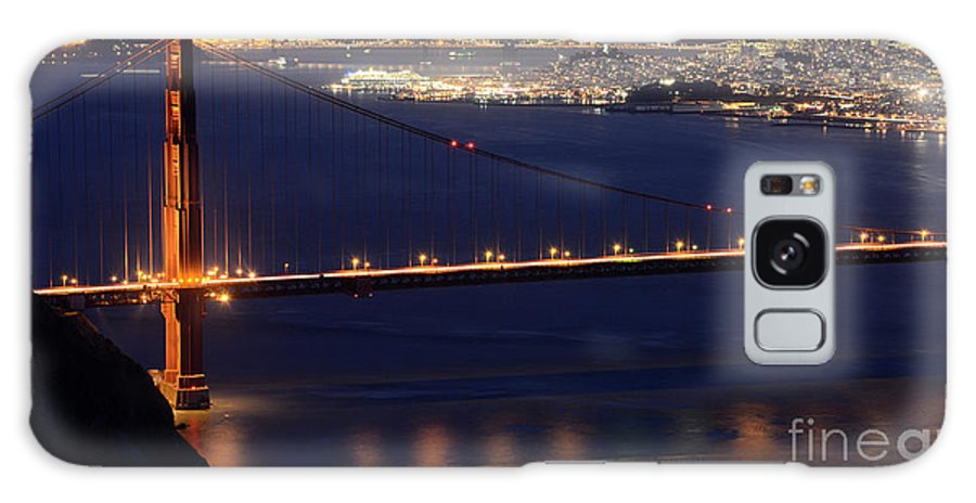 San Francisco Galaxy S8 Case featuring the photograph San Francisco At Night by Bob Christopher