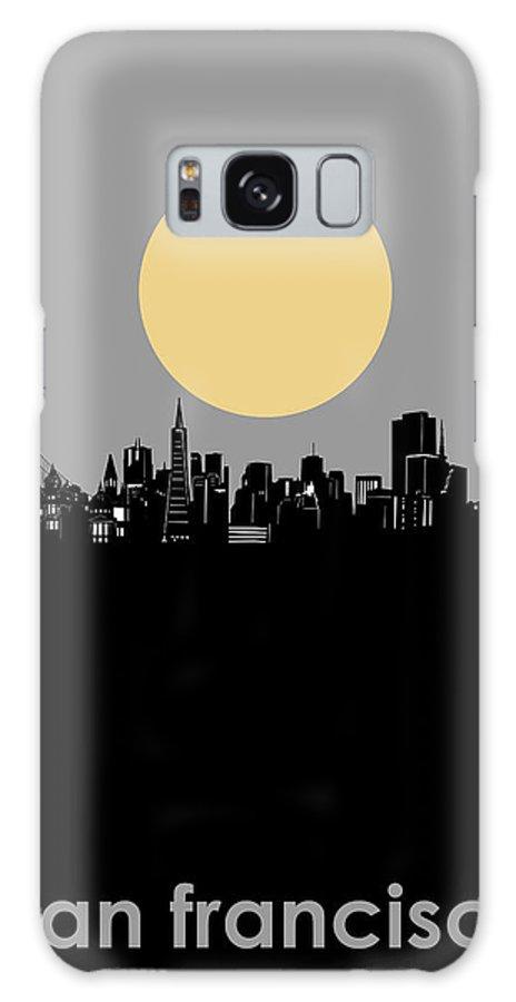 San Francisco Galaxy Case featuring the digital art San Francisco Skyline Minimalism by Bekim M