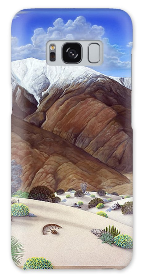 Desert Galaxy Case featuring the painting Snow Creek by Snake Jagger
