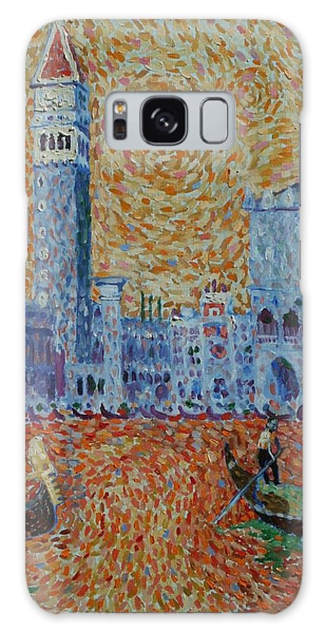 San Marco Galaxy S8 Case featuring the painting San Marco by John A B Lansdown