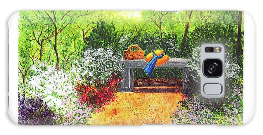Garden Painting Galaxy S8 Case featuring the painting Sanctuary by Patricia Griffin Brett