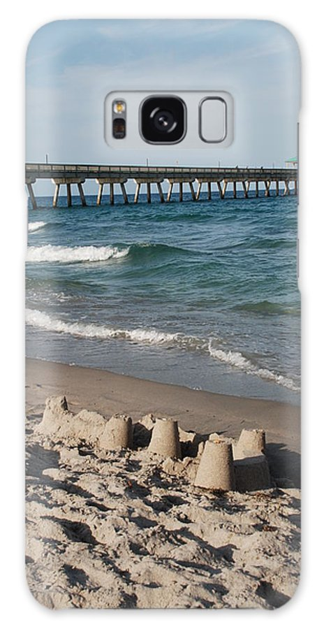 Sea Scape Galaxy Case featuring the photograph Sand Castles And Piers by Rob Hans