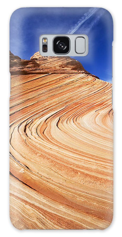 The Wave Galaxy S8 Case featuring the photograph Sandstone Slide by Mike Dawson