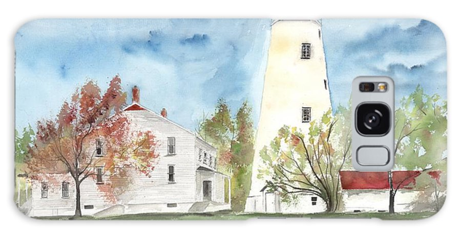 Watercolor Galaxy S8 Case featuring the painting Sandy Hook Lighthouse by Derek Mccrea