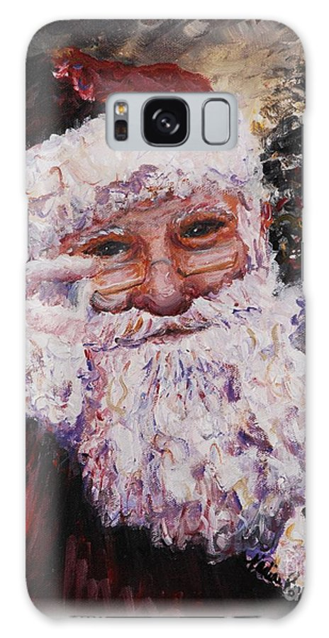Santa Galaxy S8 Case featuring the painting Santa Chat by Nadine Rippelmeyer