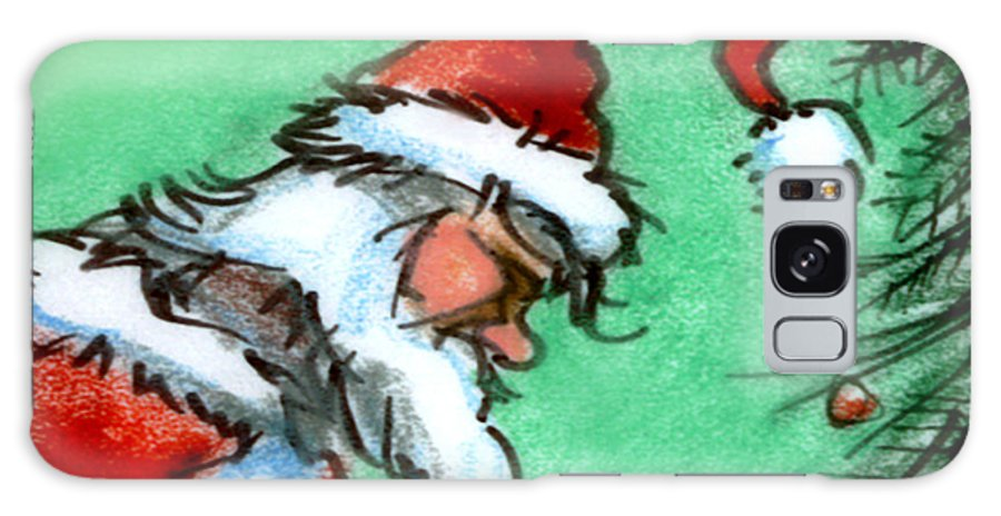 Santa Galaxy S8 Case featuring the painting Santa Claus by Kevin Middleton