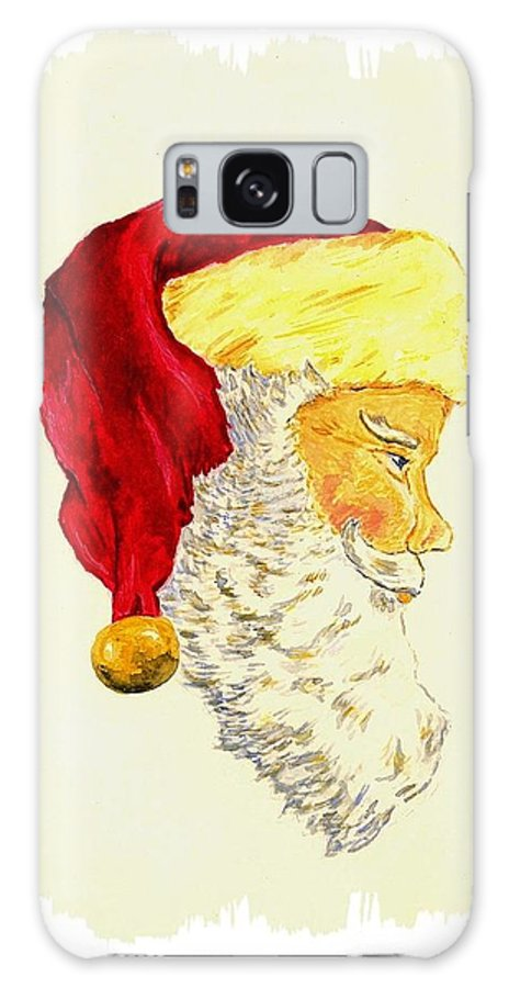 Christmas Galaxy S8 Case featuring the painting Santa Claus by Michael Vigliotti
