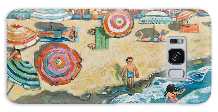 Beach Galaxy S8 Case featuring the painting Santa Cruz Beach Boardwalk by Jen Norton