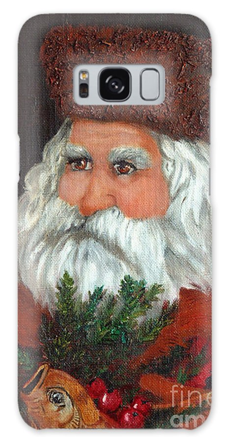 Santa Galaxy S8 Case featuring the painting Santa by Portraits By NC