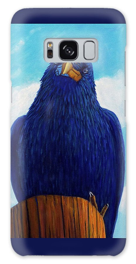 Raven Galaxy S8 Case featuring the painting Santa Fe Smile by Brian Commerford