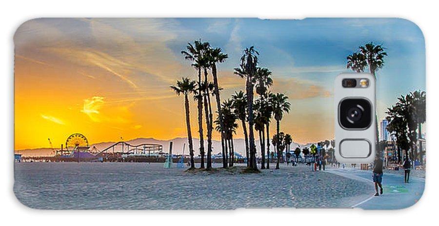 Los Angeles Galaxy S8 Case featuring the photograph Santa Monica Sunset by Az Jackson