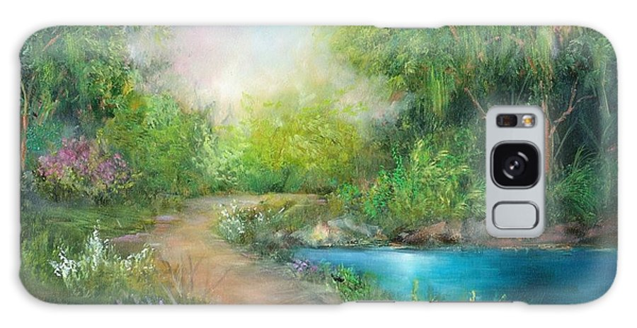 Country Galaxy S8 Case featuring the painting Santa Rosa Creek Path by Sally Seago