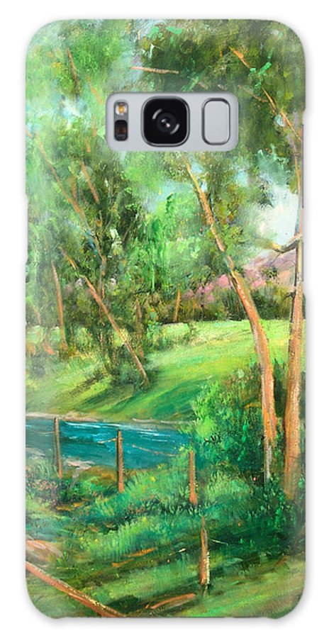 Streams Galaxy S8 Case featuring the painting Santa Rosa Creek by Sally Seago