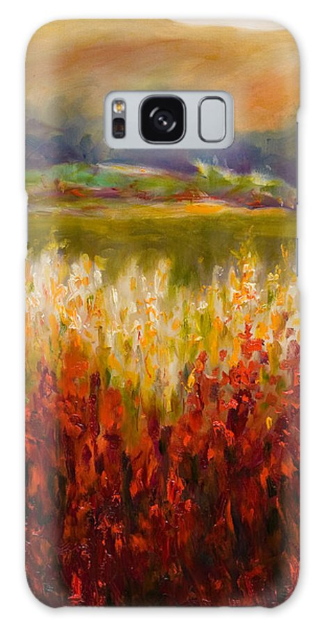 Landscape Galaxy S8 Case featuring the painting Santa Rosa Valley by Shannon Grissom