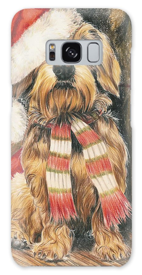 Hound Group Galaxy Case featuring the drawing Santas Little Yelper by Barbara Keith