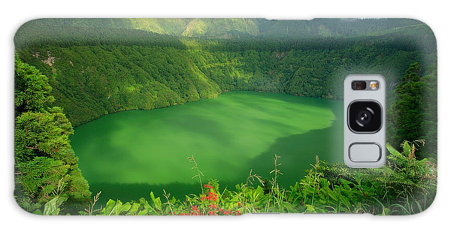 Azores Galaxy S8 Case featuring the photograph Santiago Lake by Gaspar Avila