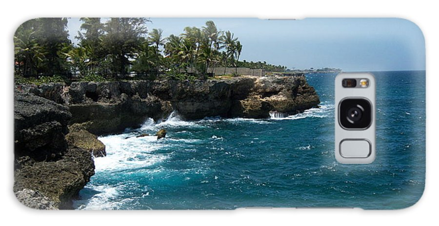 Santo Domingo Galaxy S8 Case featuring the photograph Santo Domingo Coastal View. by Heather Kirk
