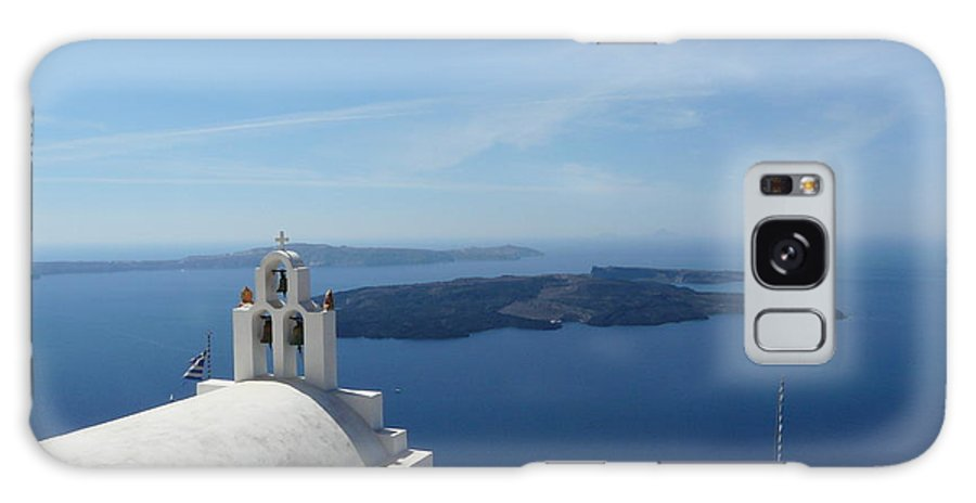 Landscape Galaxy S8 Case featuring the photograph Santorini Greece by Valerie Ornstein