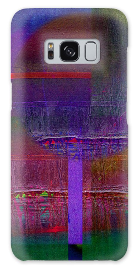 Landscape Galaxy S8 Case featuring the painting Saturn Abstract by Charles Stuart