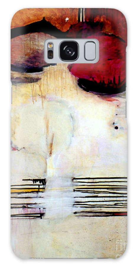 Abstract Galaxy Case featuring the mixed media Sausalito Leap Of Faith by Marlene Burns