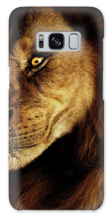 Lion Galaxy S8 Case featuring the photograph Savage by Andrew Paranavitana