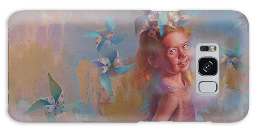 Figurative Galaxy S8 Case featuring the painting Savanah At Play by Cathy Locke