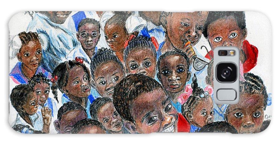 Children Galaxy Case featuring the painting Save The Children by Quwatha Valentine