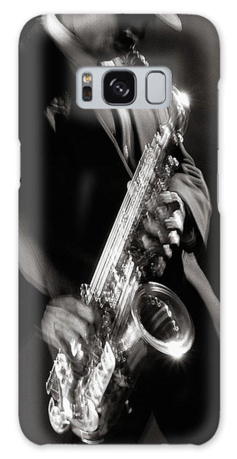 Sax Galaxy S8 Case featuring the photograph Sax Man 1 by Tony Cordoza