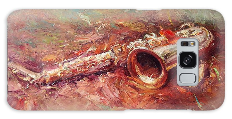 Saxophone Galaxy S8 Case featuring the painting Saxophone by Chao Liu