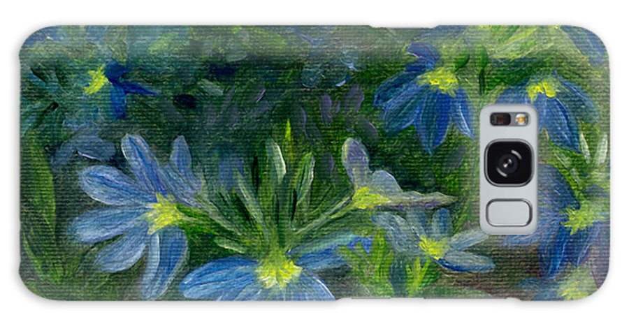 Annuals Galaxy S8 Case featuring the painting Scaevola by FT McKinstry