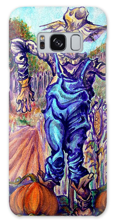 Scarecrow Galaxy S8 Case featuring the painting Scarecrow by Kevin Middleton