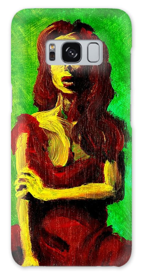 Expressionist Galaxy S8 Case featuring the painting Scarlet by Jason Reinhardt