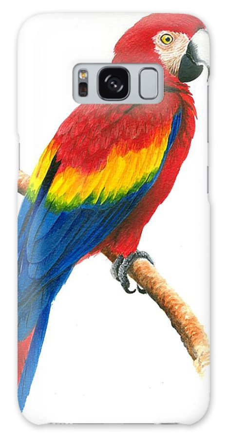 Chris Cox Galaxy Case featuring the painting Scarlet Macaw by Christopher Cox