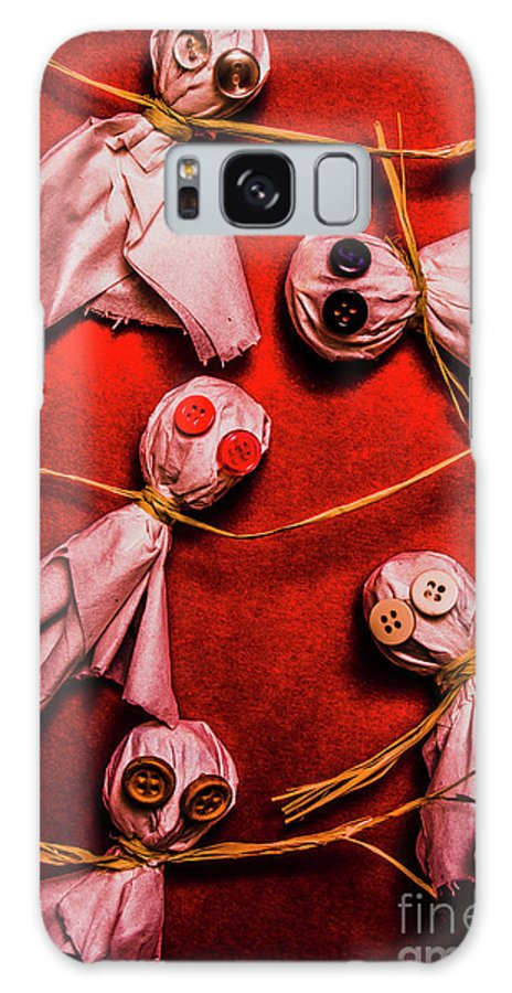 Ghost Galaxy S8 Case featuring the photograph Scary Halloween Lollipop Ghosts by Jorgo Photography - Wall Art Gallery