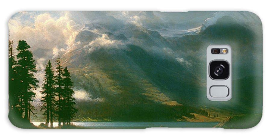 Albert Bierstadt Galaxy S8 Case featuring the painting Scenery In The Grand Tetons by Albert Bierstadt