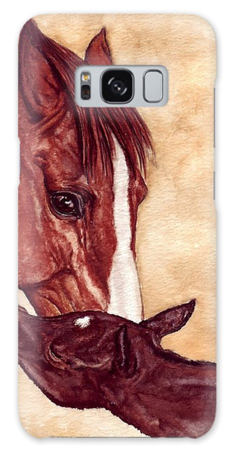 Horse Galaxy S8 Case featuring the painting Scootin by Kristen Wesch