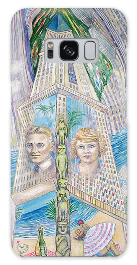 New York Fantasy Galaxy S8 Case featuring the painting Scott And Zelda In Their New York Dream Tower by Patricia Buckley