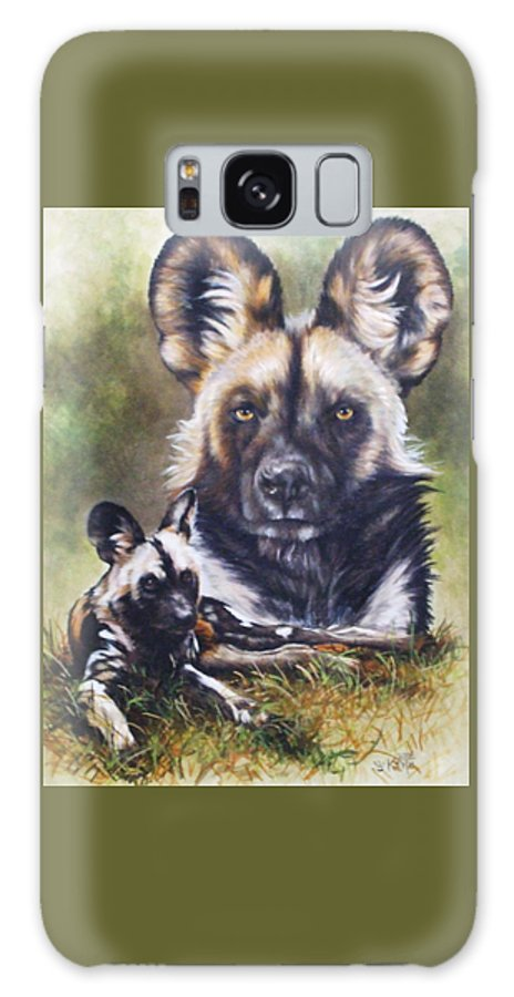 Wild Dogs Galaxy Case featuring the mixed media Scoundrel by Barbara Keith