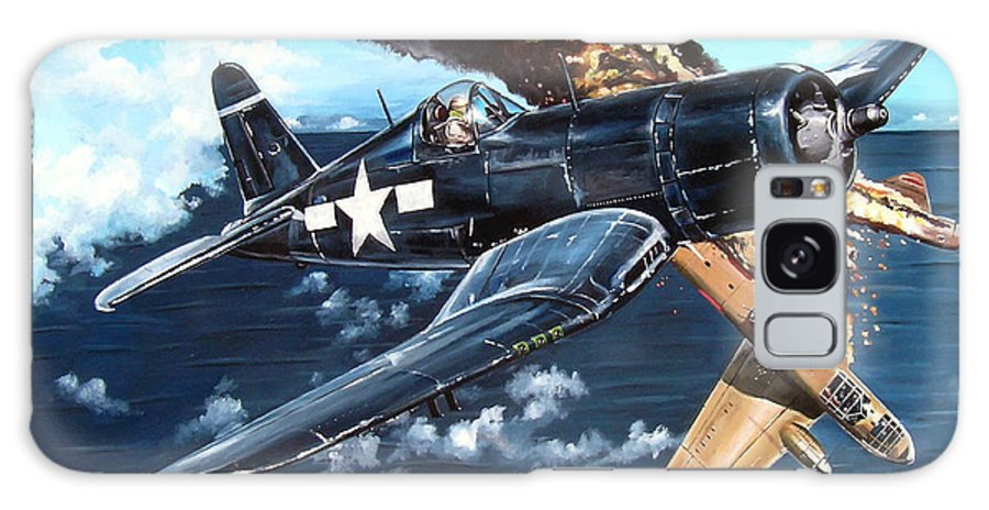 Military Galaxy Case featuring the painting Scratch One Betty by Marc Stewart