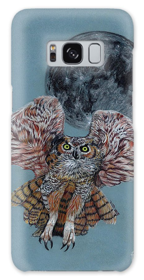 Owl Galaxy S8 Case featuring the painting Screech In The Night by Peter Piatt