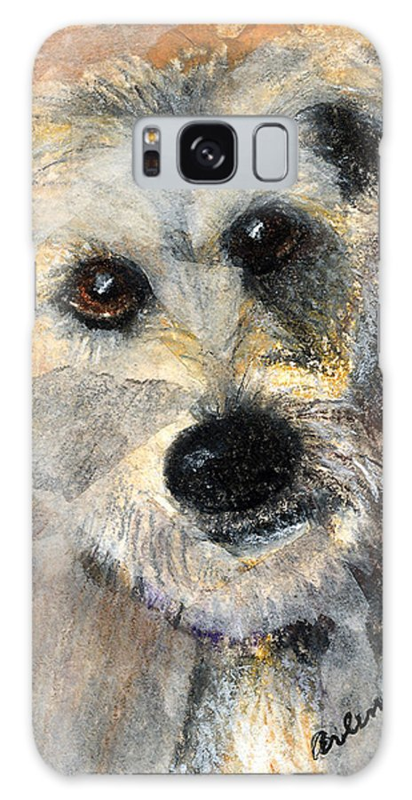 Dog Galaxy Case featuring the mixed media Scruffy by Arline Wagner
