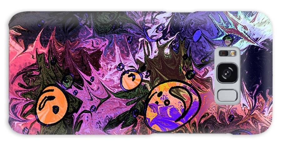 Abstract Galaxy S8 Case featuring the digital art Sea Creatures by Rachel Christine Nowicki