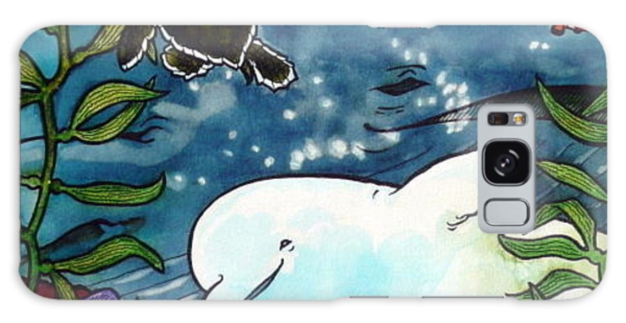 Whale Galaxy Case featuring the painting Sea Fun by Jill Iversen